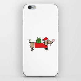 Christmas dachshund iPhone Skin