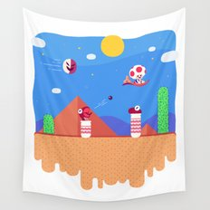 Tiny Worlds - Super Mario Bros. 2: Toad Wall Tapestry