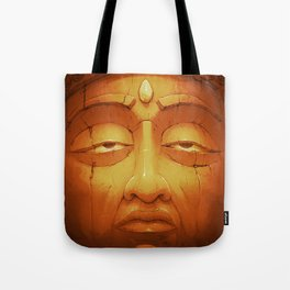Buddha II Gold Tote Bag