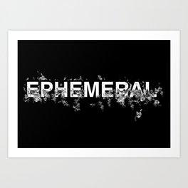 "Word ""Ephemeral"" in a minimal design Art Print"