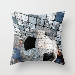 Soccer ball vs 10 Throw Pillow
