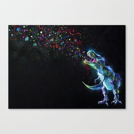 Crystal T-Rex in Space Canvas Print