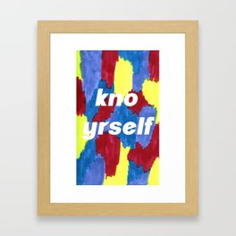 kno yrself Framed Art Print