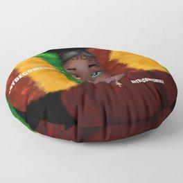 Red, Gold & Green Giant Afro Puffs Floor Pillow