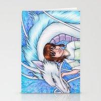 chihiro Stationery Cards featuring Spirited Away Chihiro and Haku by Kimberly Castello