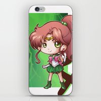 sailor jupiter iPhone & iPod Skins featuring Jupiter by Lady Cibia