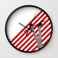 legs Wall Clocks featuring Legs by Dee Dubs