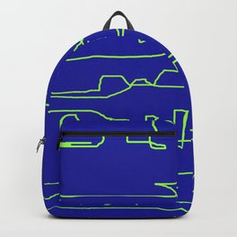 JAGGED IMAGERY ON BLUE Backpack