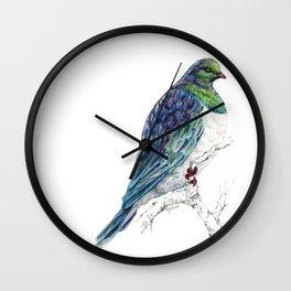 Mr Kereru, New Zealand native wood pigeon Wall Clock