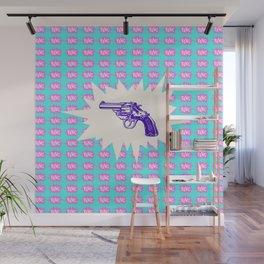 Purple Gun Wall Mural