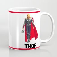 thor Mugs featuring Thor by Marianna