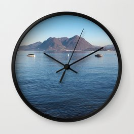 Borromean Islands, italian landscape, italian lake, lakes lover, Italy love, beautiful island, Stresa Wall Clock