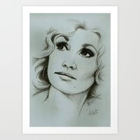dolly parton Art Prints featuring Dolly Parton by Talula Christian
