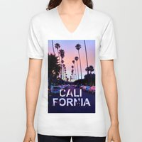 "california V-neck T-shirts featuring CaliforniA by ""CVogiatzi."