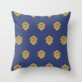 Free Marches (Blue) Throw Pillow