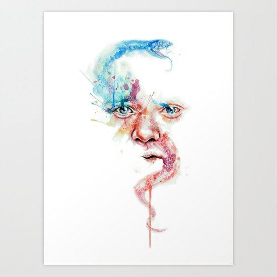 Hippocrates face Art Print