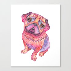 Pugberry Canvas Print
