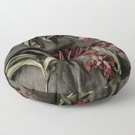 """Peonies are beautiful from the """"bud to to the end."""" Floor Pillow"""