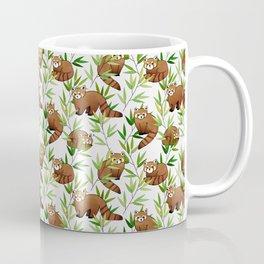 Red Panda Pattern Coffee Mug