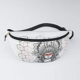 Geometric Indian Fanny Pack