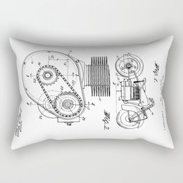 Motorcycle Patent Art Rectangular Pillow
