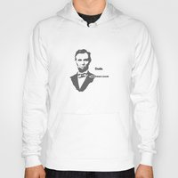 lincoln Hoodies featuring Abebroham Lincoln by Spooky Dooky