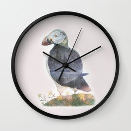 ICELANDIC PUFFIN Wall Clock