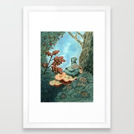 Someone who lives in a tree Framed Art Print