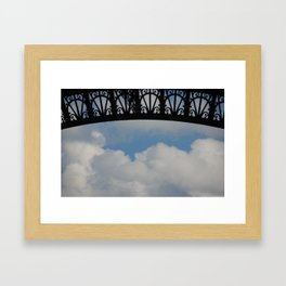 In the shade of the Eiffel Framed Art Print