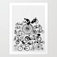 bicycles Art Prints featuring Bicycles by Ewan Arnolda