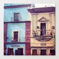 mexican Canvas Prints featuring Mexican houses by Olivier P.