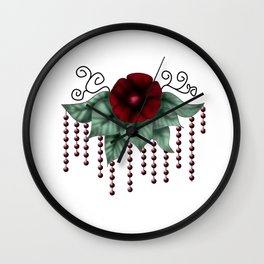 chains and roses Wall Clock