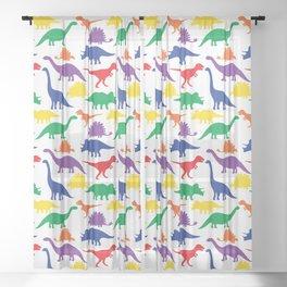 Dinosaurs - White Sheer Curtain