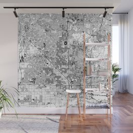 Phoenix White Map Wall Mural