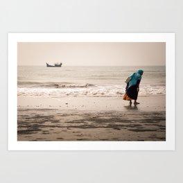 Cox Bazar beach, Bangladesh. Art Print