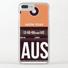 AUS Austin Luggage Tag 2 Clear iPhone Case
