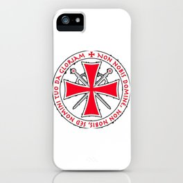 The templar cross iPhone Case