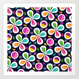 Floral Pop Rainbow Art Print
