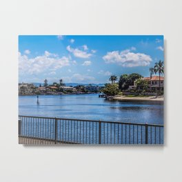 Houses On The Nerang River Metal Print