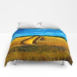 Landscape in England Comforters