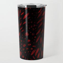 Foliage (Black on Red Variant) Travel Mug