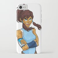korra iPhone & iPod Cases featuring Korra by Haley Martin