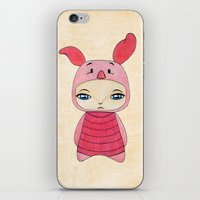 tigger iPhone & iPod Skins featuring A Boy - Piglet (porcinet) by Christophe Chiozzi