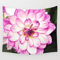 dahlia Wall Tapestries featuring dahlia by Karl-Heinz Lüpke