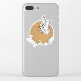 Butterfly & Primrose Clear iPhone Case
