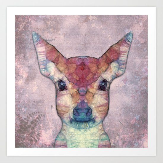 Abstract Fawn Art Print