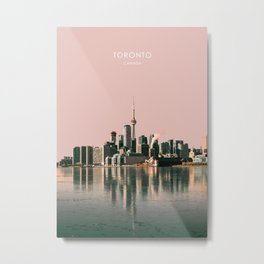 Toronto Skyline, Canada Travel Artwork Metal Print