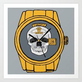 Skull Rolex Art Print
