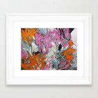 grafitti Framed Art Prints featuring Grafitti by Lynné