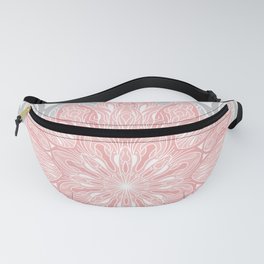 MANDALA IN GREY AND PINK Fanny Pack